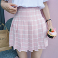 2016 New Japanese Style Plaid High Waist A-line College Wind Casual Short Female Skirt