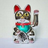 [Летающий Орёл] 432 шт. китайский фэн шуй привлечение удачи кот приносящий удачу 5 богатство развевающийся Манеки Неко серебро