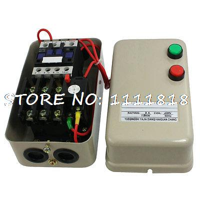 220V Coil 2.2-3.5A 1.5KW 2HP 3 Phase AC Contactor Motor Magnetic Starter chint electromagnetism starter magnetic force starter qc36 10t motor starter phase protect magnetic force switch