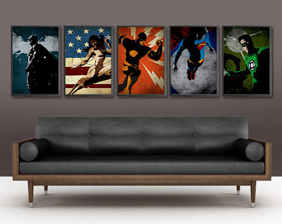 5 Pieces Set Handmade Oil Painting On Canvas Wall Art Home Decor For Living Room