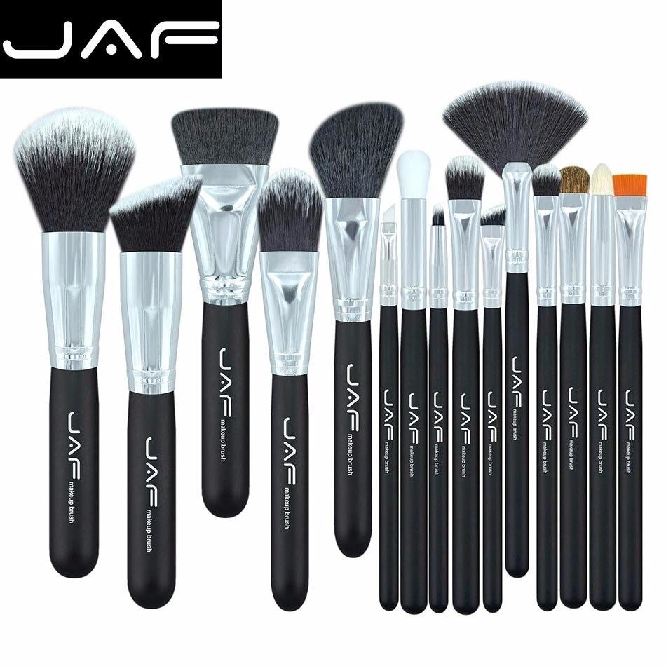 JAF Brand 15 pcs/set Makeup Brushes 15 pcs make up brush set high quality make-up brush kit free shipping J1502SSY-B