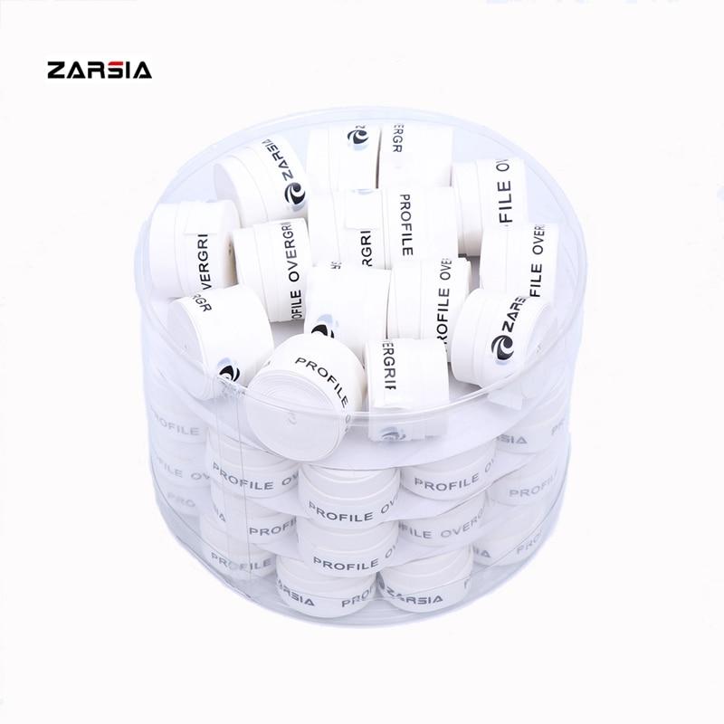 (White) 60 pcs brand ZARSIA ZA-01 Dry feel Tennis Racket Grip Anti-skid Sweat Badminton Grips Racquet tennis sports Sweatband
