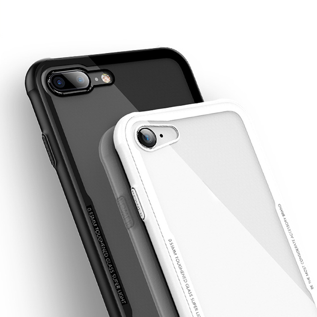 4186d31399 For iPhone 7 Case Luxury Silicone+Hard Glass Back Cover for Apple iPhone7 8 Plus  Case KOOLIFE Phone Case for iPhone 7 Plus Cover