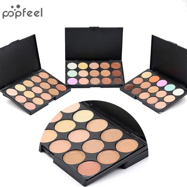 Popfeel Профессиональный корректор 15 видов цветов лица крем для лица Уход камуфляж основа под макияж палитры Косметический