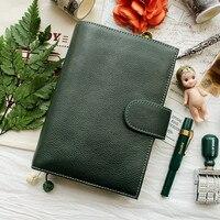2018 Yiwi A6 A7 skórzana Notebook Handmade Spoiwo Skóry Wołowej Sketchbook Planner Journal Diary Notebooka Z Kieszonkowe