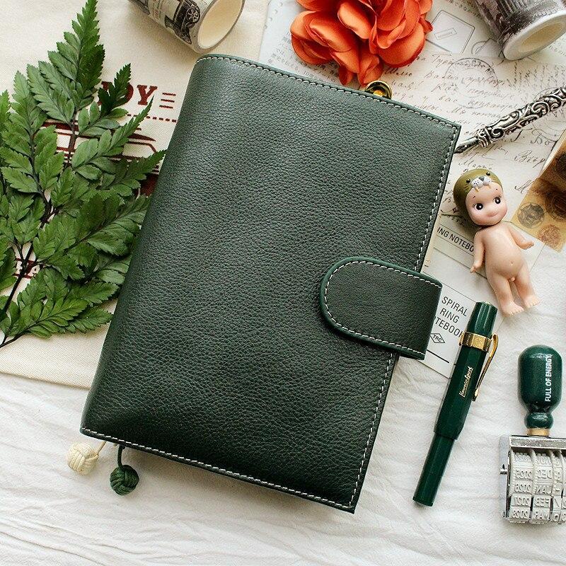 Yiwi A6 A7 carnet de notes en cuir véritable à la main carnet de notes en cuir de vachette Journal carnet de croquis planificateur avec poche d'argent