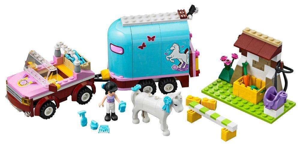 BELA Friends Series Emmas Horse Trailer Building Blocks Classic For Girl Kids Model Toys Marvel Compatible