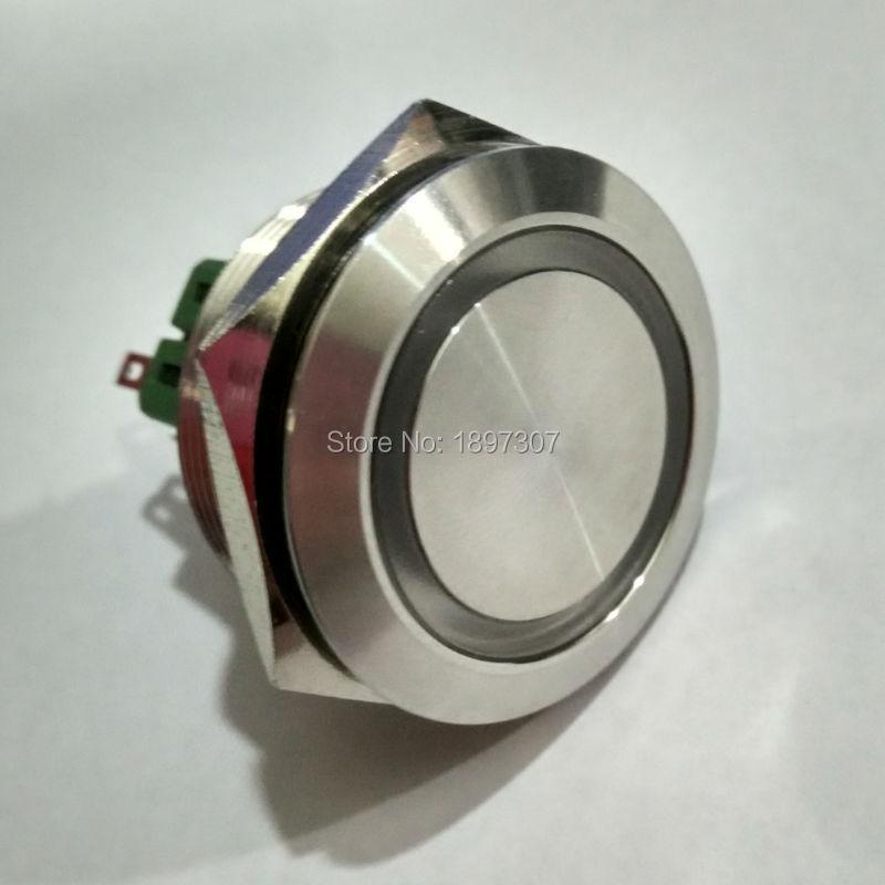 30mm Self-locking 1NO1NC Ring LED 6 Pin Metal Push Button Electric Boat Switch 6V 12V 24V 110V 230V