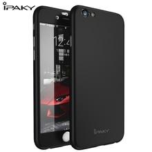 Ipaky бренда для iphone 6 case 3 в 1 задняя крышка гибридный fundas полное покрытие case для iphone 6 6s 4.7/6 плюс 5.5 с стекло фильм