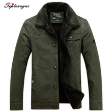 Luxury Winter Mens Fur Collar 100% Cotton Padded Coat Casual Fashion Jackets Plus Size Coats and Military Amy Green