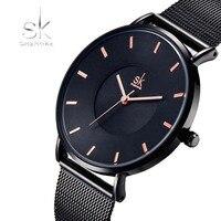 Shengke Fashion Women Watches Luxury Brand Quartz Ladies Stainless Steel Bracelet Watch Casual Clock Montre Femme