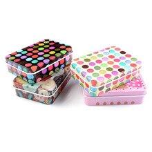 1 PCs Mini Cute Cartoon Tin Metal Drawer Receive Storage Box Candy Box Case Home Organizer Jewelry Container Gift