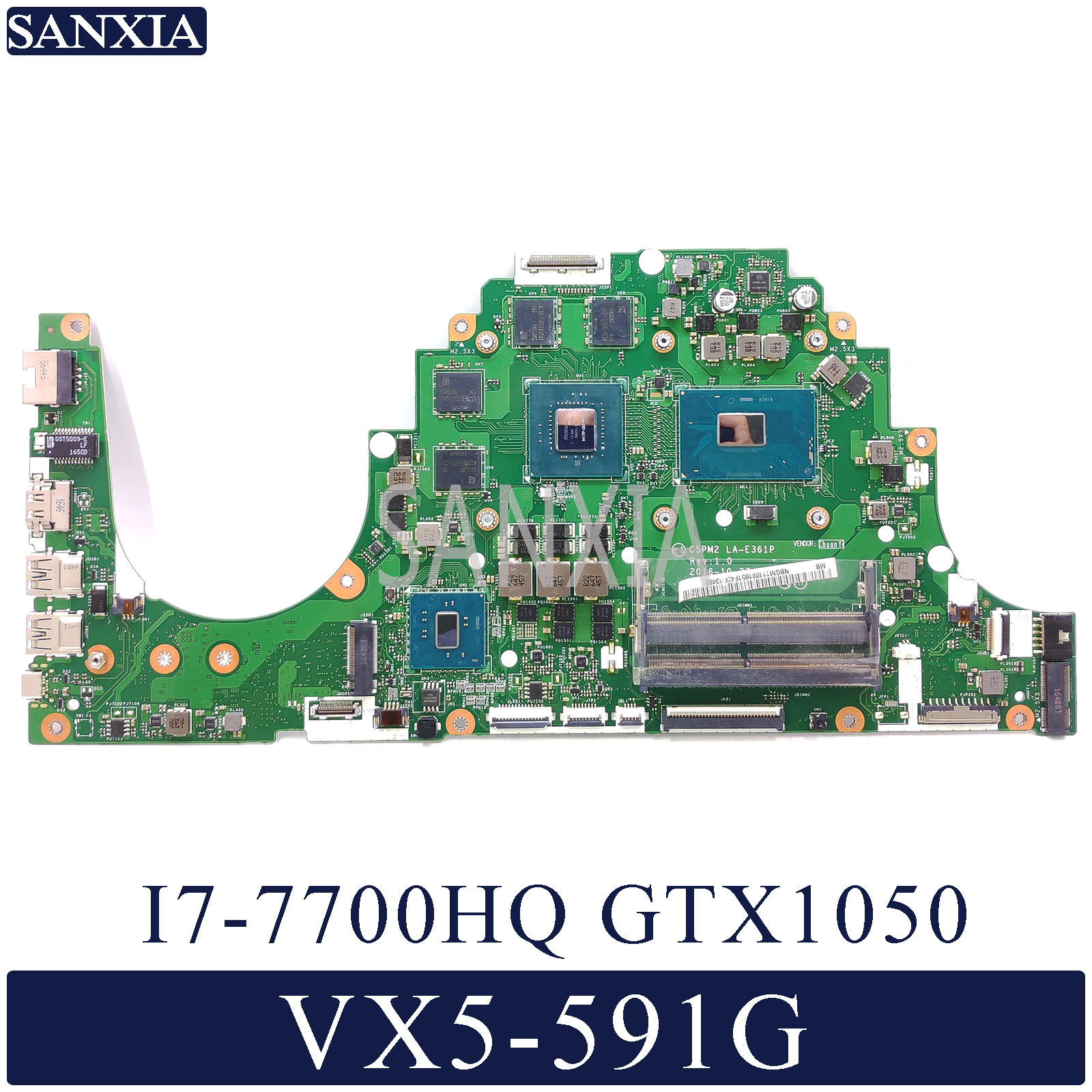 KEFU C5PM2 LA E361P Laptop motherboard for font b Acer b font Aspire VX5 591G original