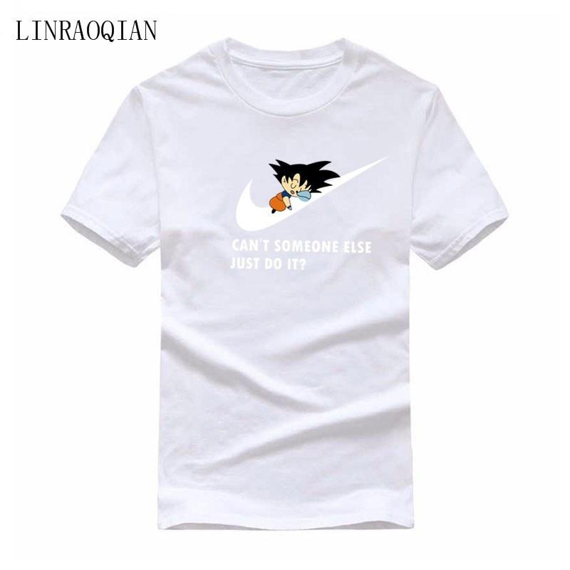 Tee Shirt Homme Pokemon T-Shirt JUST DO IT New Summer Anime Dragonball T-Shirt The Boy Skate Tshirt Tops Printed T Shirt Men