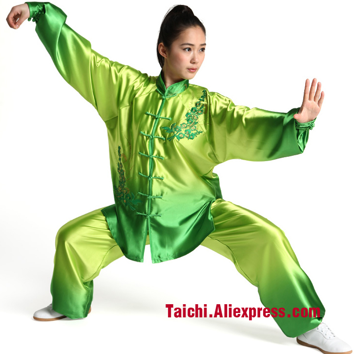 Women Tai Chi Uniform Wushu,Gradient Kung Fu,clothes,embroidery Martial Art Suit,performance Clothing купить недорого в Москве