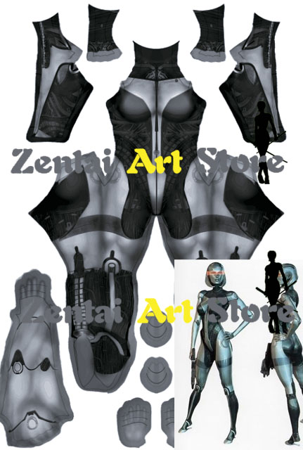 High Quality 3d Print Mass Effect Sexy Beauty Robot Edi Character