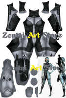 High Quality 3D Print Mass Effect Sexy Beauty Robot EDI Character Cosplay Costume Lycra Zentai Outfit Girls/Woman/Female Suit