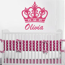 Princess Crown Wall Decal Removable Vinyl Customize Name Sticker Nursery Decoration Boys Girls Bedroom AY0256