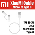 SJX01ZM 1M offical original 100% for xiaomi micro usb to type c usb 3.1 cable TPE 2.4A Quick Charge Data Sync