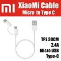 Sjx01zm 1 m original offical 100% para xiaomi micro usb a tipo c usb 3.1 cable TPE 2.4A Carga Rápida de Datos Sync