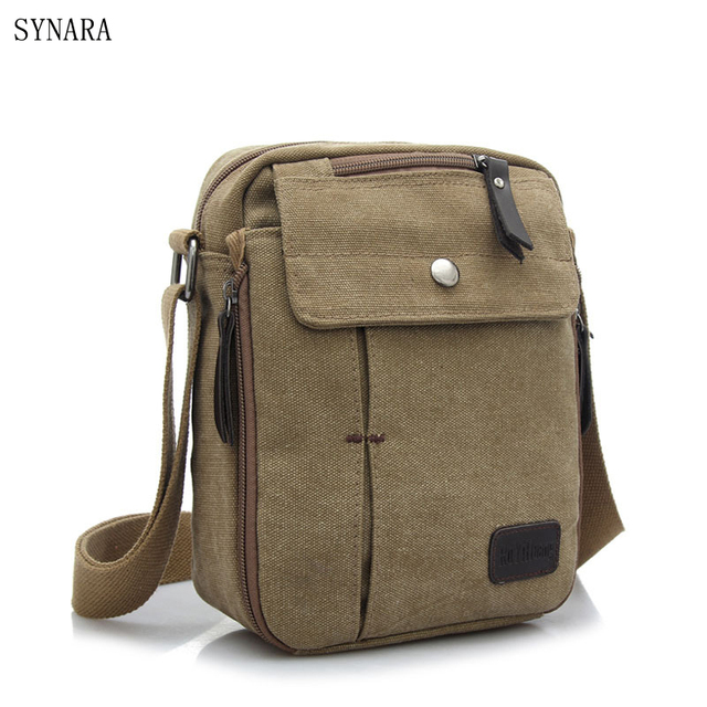 17794b84c63b Hot Sell Famous Brand Design Canvas Men Bag Casual Business Canvas Mens  Messenger Bag Vintage Men s