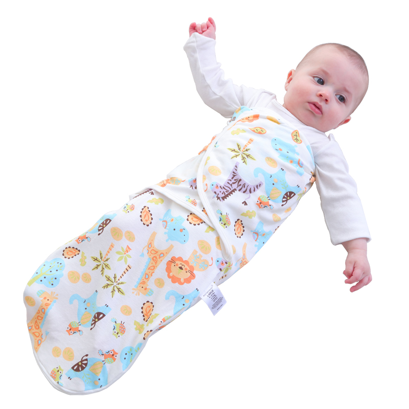 Newborn 0-6M 63cmBaby Zipper Crocodile Design Cotton Soft Breathable Sleeping Bag Small Bebe Kids Baby Swaddle Blanket Sleepsack