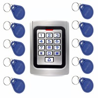 10pcs RFID Cards RFID 125Khz EM Card Door Access Control IP68 Waterproof Metal Case Silicon Keypad