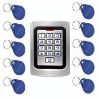 10pcs RFID Cards RFID 125Khz EM Card Door Access Control IP68 Waterproof Metal Case Silicon Keypad