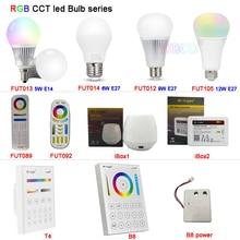 MiBOXER 5W 6W 9W 12W E14 E27 RGB+CCT Smart led Light Blub lamp 2.4G Remote FUT013/FUT014/FUT012/FUT105/FUT092/FUT089/T4/B8