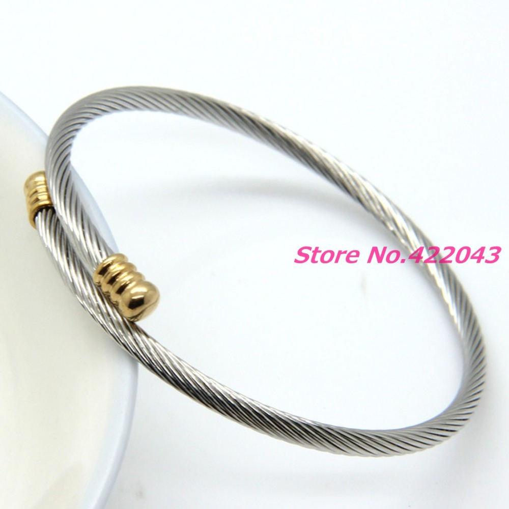New Women Mens Stainless Steel Twisted Cable Wire Chain 3mm Thin ...