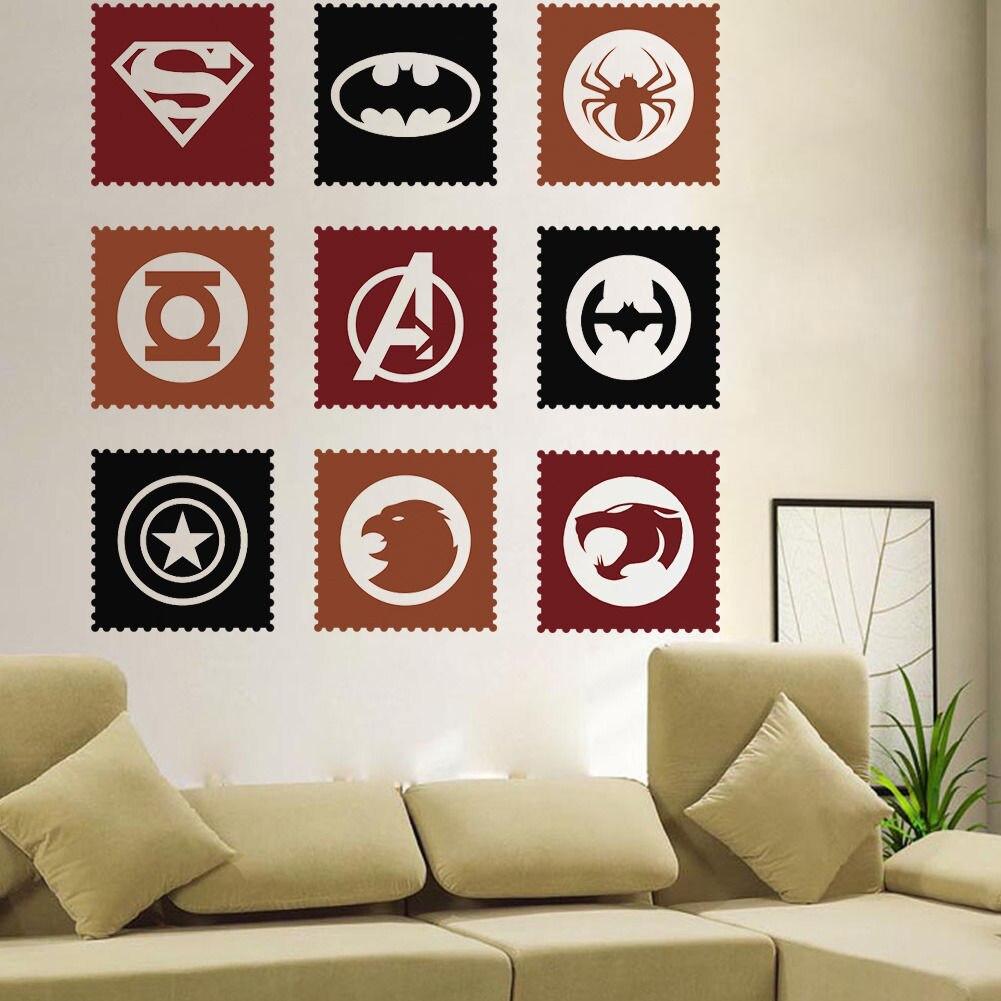 The Avengers Hero Vinyl Art Wall Decals Sticker Home Kids Room - Vinyl wall decals avengers