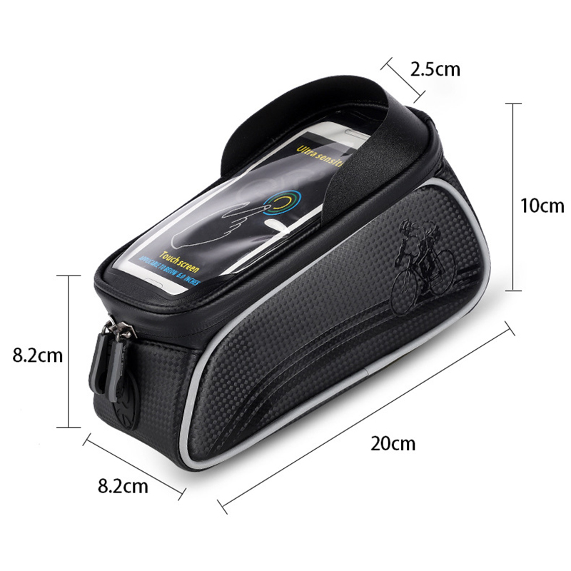 Waterproof Mountain Bike Road Bicycle Mobile Phone Bag Front Frame Tube Pouch Bag Super Light Bicycle Storage Bag XR-Hot