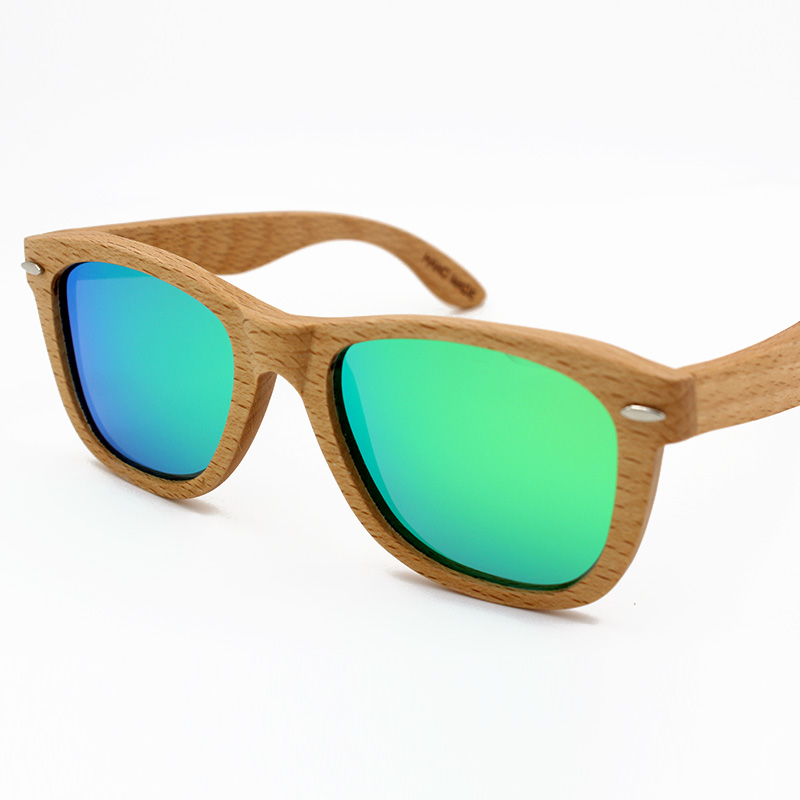 a3f46551449f Revo Mirror Polarized Wood Sunglasses Men Women Brand Designer 2016 Vintage  Shades With Metal Spring Hinge Gafas De Sol Mujer-in Sunglasses from Women s  ...