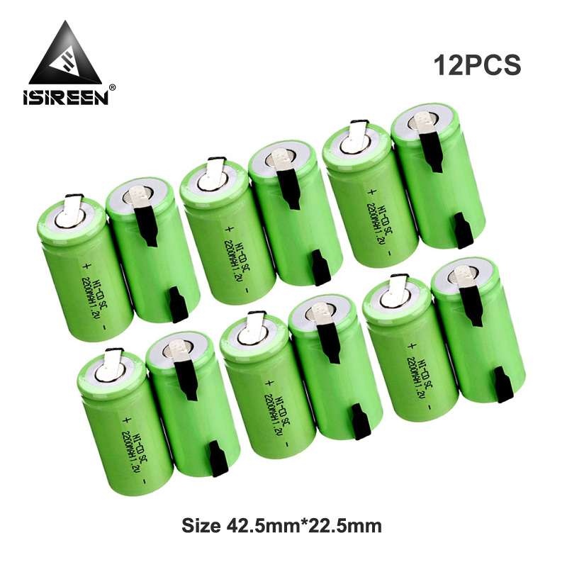 Rechargeable Battery Cells SC Ni-CD 1.2V <font><b>2200mAh</b></font> DIY Battery Packs Subc Ni CD Electric Tools Accumulator 7.2V 9.6V 12V <font><b>14.4V</b></font> 18V image