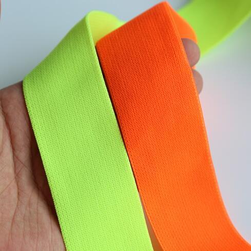 SICODA 10 Meters Neon Green Elastic Strap For Night Club Dancing Rubber Elastic For Garments Accessories Diy Elastic Belts