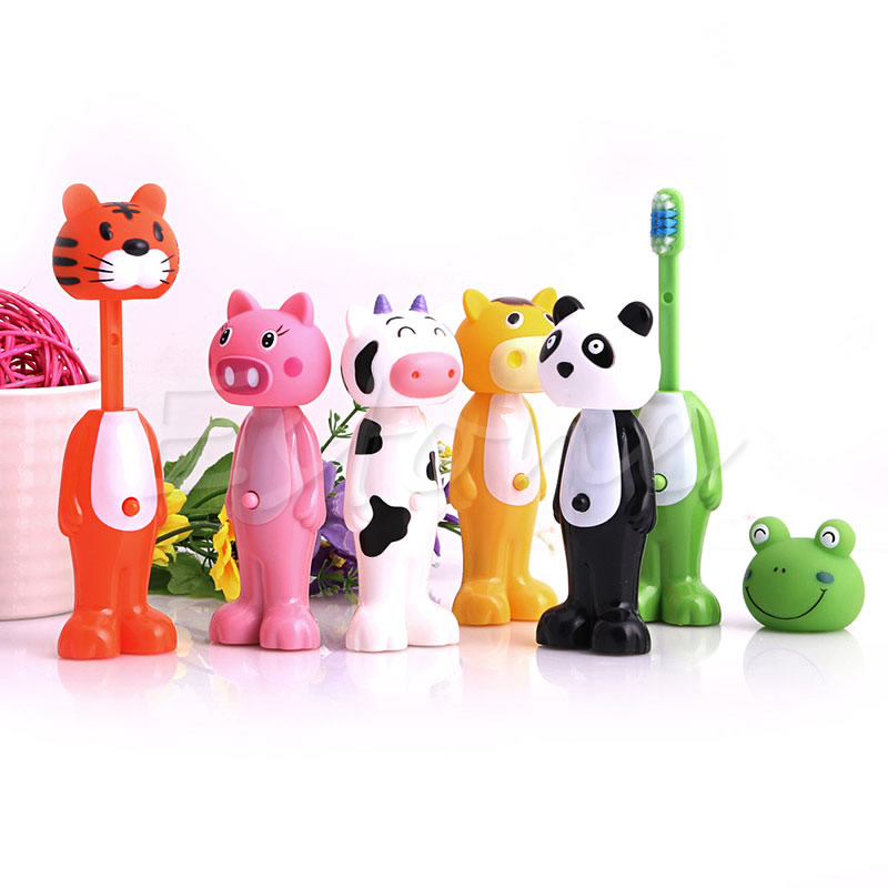 1 PC Baby Toothbrush Silicone Toothbrush Kids CartoonTooth Brush Soft Bristle Tooth Brush Mouth Clean Teether Training