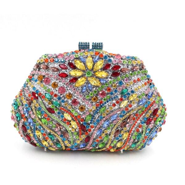 Chaîne Mariage À Sacs Femmes La Bracelets De D'embrayage Cristal or Main Mini Soirée Sac Bleu D'épaule Embrayage Étudiant Bourse Avec 4zdawqzY