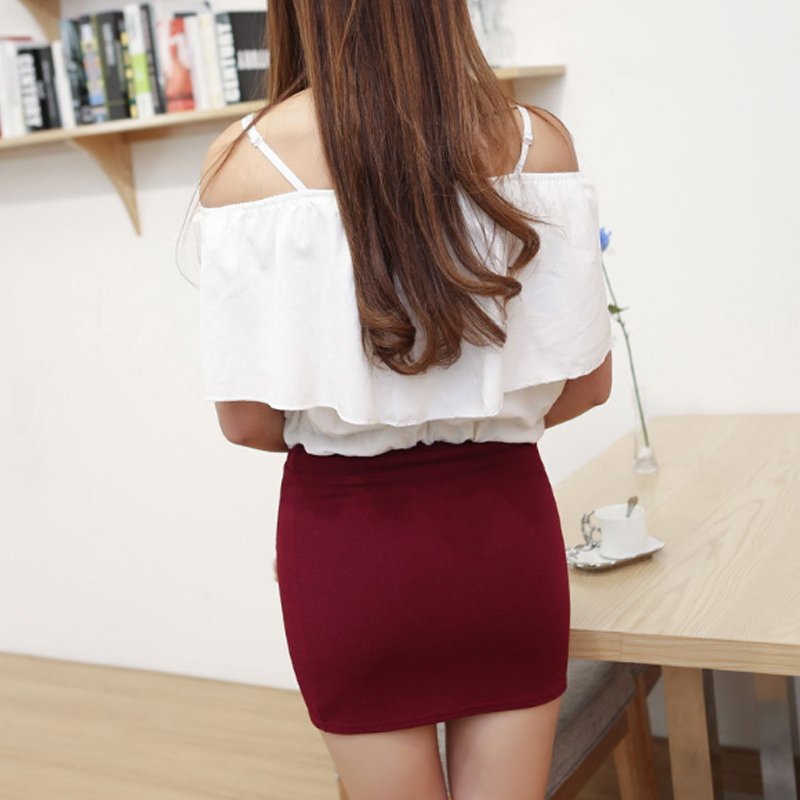 New Micro Mini Skirts 2017 Summer Sexy Girls Skirts Casual Package Hip Short Skirts Women Tight Office Party Female Red Black 50 #5