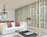 Beibehangpapel De Parede Background Wall Papers Video Wall Thickening Non Woven Bedroom Simulation Birch Forest 3d