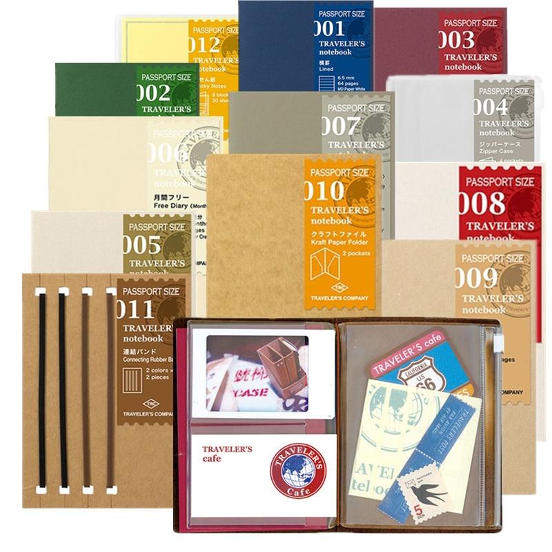 MIDORI travelers traveler's bullet journal notebook passport version journaling accessories inserts inner page Sticker ежедневник midori