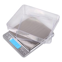 2000g x 0.1g Mini LCD Display Pocket Gram Electronic Digital Scales Jewelry Kitchen Food Weighing Balance Scales with Backlight