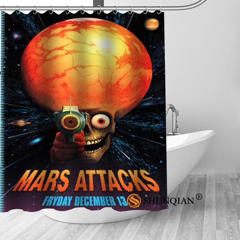 Custom Shower Curtain Mars Attacks Bathroom Curtains High Quality Polyester Bath Curtain Home Hotel Bathroom Decoration