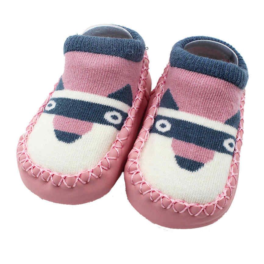 2018 calcetines de dibujos animados para recién nacidos calientes calcetines de algodón para bebés niñas suelo antideslizante niños Zapatillas Zapatos botas Dropshipping 1218