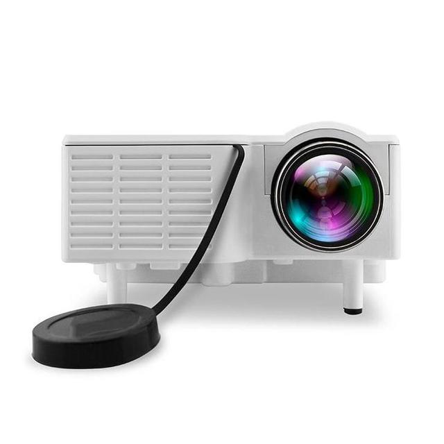 Multimedias del Teatro casero LLEVÓ el Proyector Del HD 1080 P SD AV VGA USB Blanco