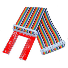 Free shipping ! Keyes Raspberry Pi 3 GPIO expansion DIY kit (40P rainbow line + GPIO V2)