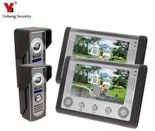 Yobang Security Yobang Security 7 Inch Video Intercom Doorbell Door Phone Intercom Night Vision Wired Phones Intercom Systems