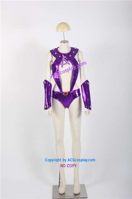 Teen Titans Starfire Cosplay Costume ACGcosplay Include Boots Covers