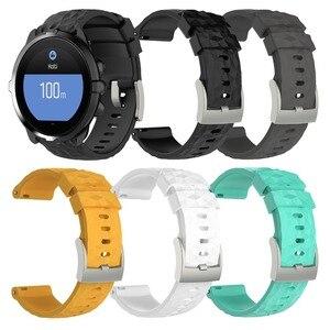 Черный мягкий силиконовый ремешок для наручных часов Bemorcabo для спортивного браслета Suunto Spartan HR Baro Suunto 9
