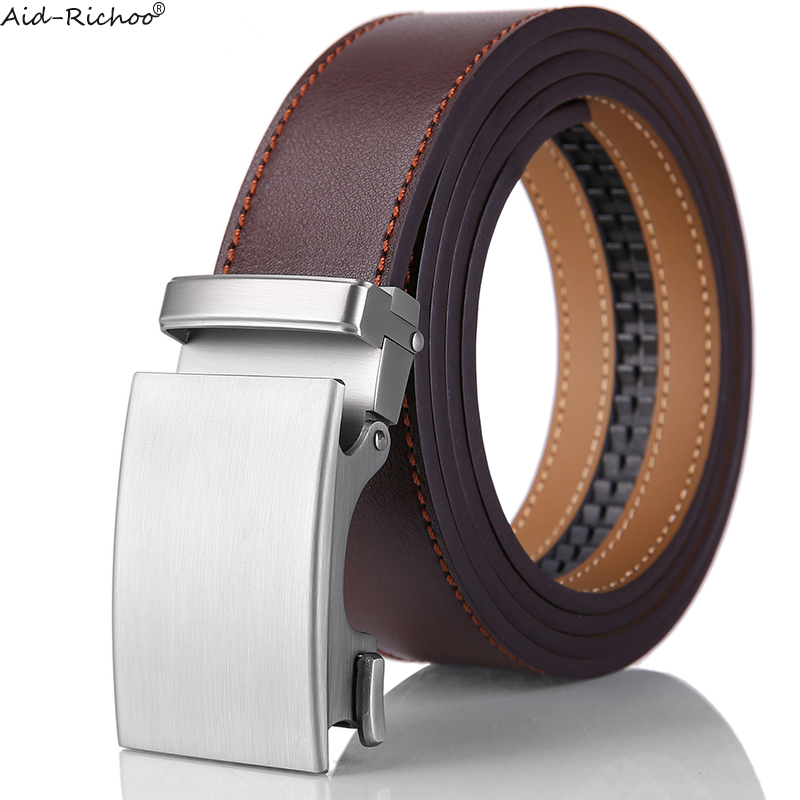 Luxury Casual Men/'s Genuine Leather Automatic Buckle Belts Waist Strap Waistband
