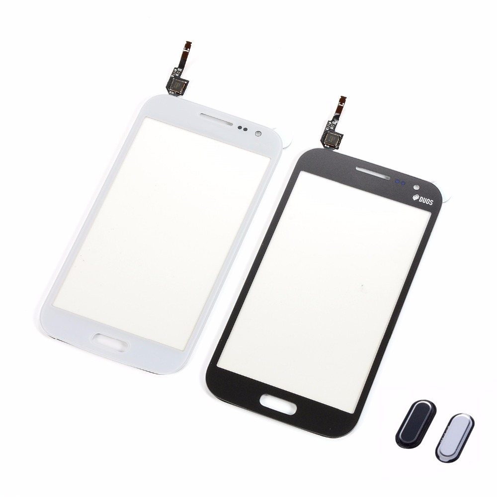 For Samsung Galaxy Win GT-i8552 GT-i8550 I8552 I8550 Touch Screen Digitizer Front Glass Panel+Home Button Return Key Keypad